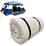 Foamma 6' x 36' x 72' High Density Roll-Up Camping Mattress, CertiPUR-US Certified Foam, Organic Cotton Cover, Made in USA, Portable and Comfortable
