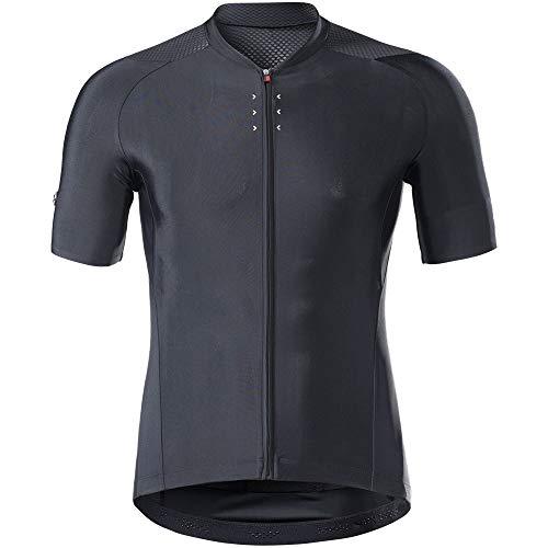 DANGAO Ciclismo Hombres Bicicleta reflexiva Jerseys Mangas Cortas Motocross Montocross Mountain Bike Cuesta Abajo Racing Road Bicycle Tops (Color : Black, Size : Small)