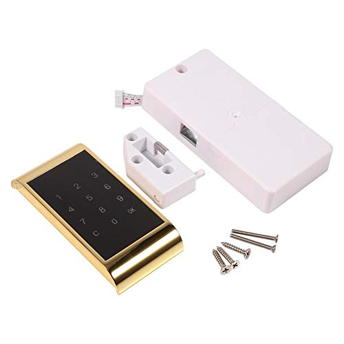 Elektrisch codeslot, touch-keypad wachtwoordvergrendeling, kabinet, codeslot, digitaal codeslot, elektronisch beveiligingsslot, wachtwoordvergrendelingsdeur voor metaal, houten kast goud