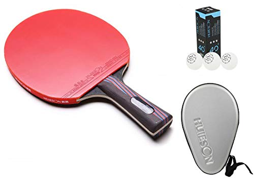 Amazing Deal HUIESON Nano Carbonization Wood Training or Game Defensive Type Table Tennis Rackets Pi...