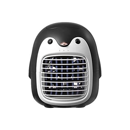 ZYUJ Aire acondicionado portátil, Penguin Mini Aire Acondicionado Hogar Oficina Escritorio Humidificante Refrigerador de Aire Aire Aire Aire Acondicionado Ventilador USB