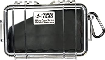 Pelican 1040 Micro Case (Black/Clear), Model:1040-025-100