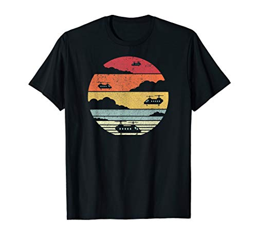Chinook Helicopters Shirt. Retro Style Pilot T-Shirt