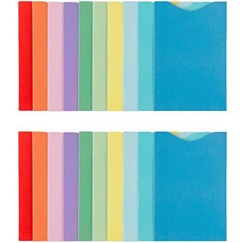 smart safety® TÜV geprüfte RFID Blocker Ausweishülle NFC Kreditkarten Schutzhüllen für Bankkarten, Reisepass, EC Karte, Ausweis, Kreditkarte I 100% Schutz gegen unerlaubtes Auslesen I bunt I 20 Stück