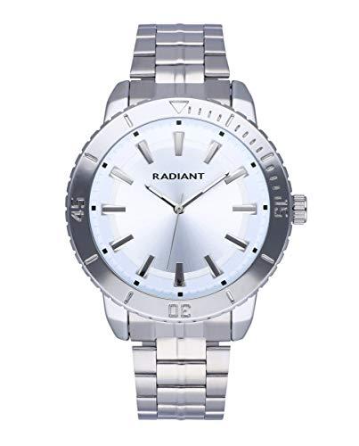 Reloj analógico para Hombre de Radiant. Colección Storm. Reloj con Brazalete Plateado y Esfera y Bisel a Tono. 5ATM. 44mm. Referencia RA570201.