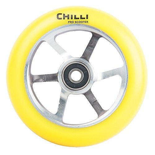 CHILLI PRO SCOOTERS - Chilli Wheel 6 Spoke 110mm - CHILLI-WHEEL-6-SPOKE-110mm - Amarillo