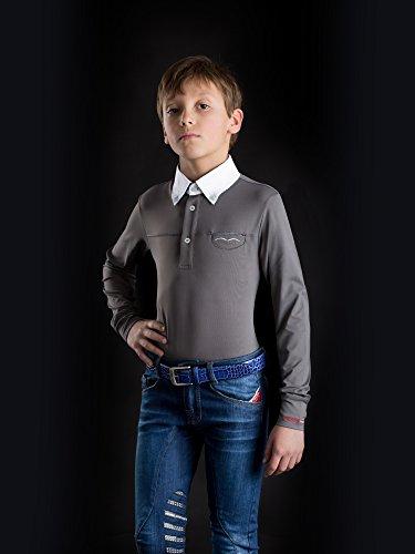Animo Italia Boy's Reithose Kinderreithose Jeansreithose Mar (9 Jahre)