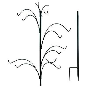 Woodside XL Wild Bird Feeding Station Tree for Garden Use, Heavy Duty with 10 Hanging Hooks