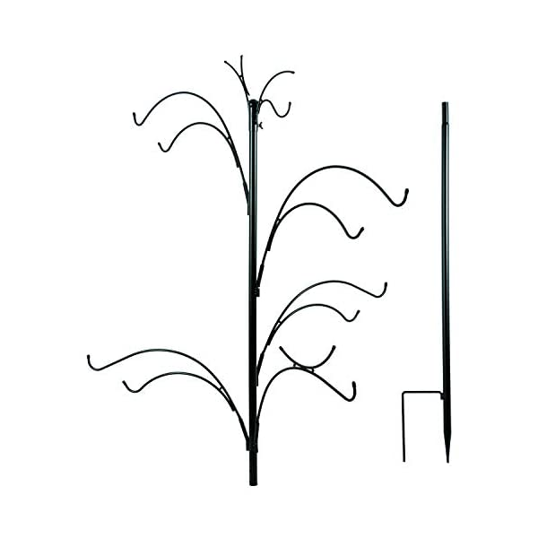 Woodside XL Wild Bird Feeding Station Tree for Garden Use, Heavy Duty with 10 Hanging Hooks