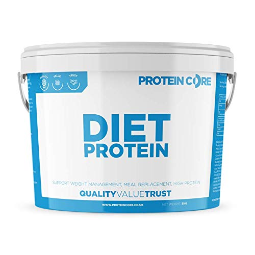 Diet Whey Protein Powder - Fat Burning Slimming Ingredients - Lose Weight Fast + Maintain Tone - Meal Replacement Shaker - Green Tea - Taurine - CLA - Protein Core (Chocolate, 1KG)