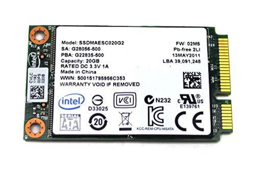Intel 311 20 GB MO-300 mSATA SSDMAESC020G2 SSM #310879