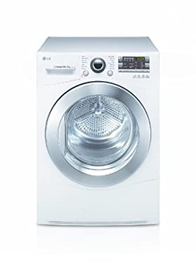 LG RC8055AH2Z Independent Front Loading 8kg A + White–Tumble Dryer (Freestanding, Front Loading, Heat Pump, White, Rotary, Right)