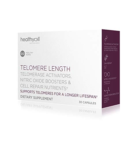 Healthycell Telomere Length   Supplement for Lengthening Telomeres and DNA Repair, Anti Aging, Cell Health, Stem Cell Support   Clinically Proven Ingredient AC11®   578 mg Capsules