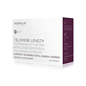 Healthycell Telomere Length | Supplement for Lengthening Telomeres and DNA Repair, Anti Aging, Cell Health, Stem Cell Support | Clincially Proven Ingredient AC11® | 578 mg Capsules