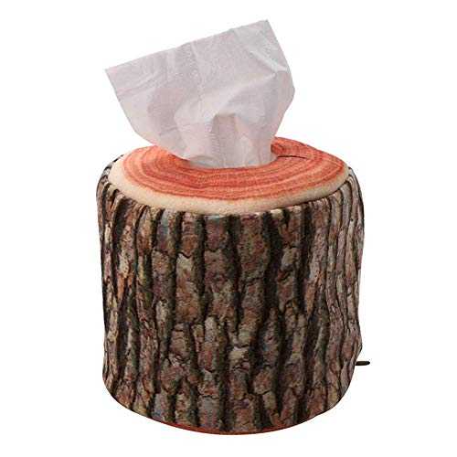 Tutyuity Taschentücherbox, Imitation Tree Bark Tissue Box, Serviettenpapier Lagerung für Home Office Decor