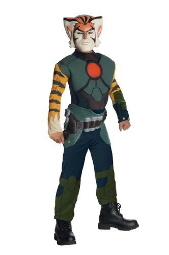 ThunderCats Animated Tygra Deluxe Muscle Chest Costume