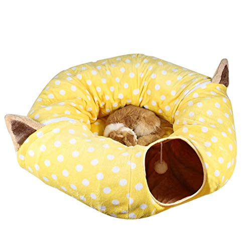 Pet Nest Kennelpet Cat House Bed Winter Soft en Warm Pet Nest Family Chinchilla Cat Play Tube Barrel Apartment Pop-Up Stapelbaar Bed
