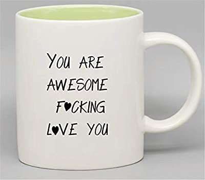 PUZERM Funny Coffee Mug for Girlfriend, Gifts for boyfriend Mom Dad Funny Tea Cup Gift I Love You Festival Birthday Gifts Presents for Her Him Men Women Who Love Coffee, Tea, Cocoa and Drinks