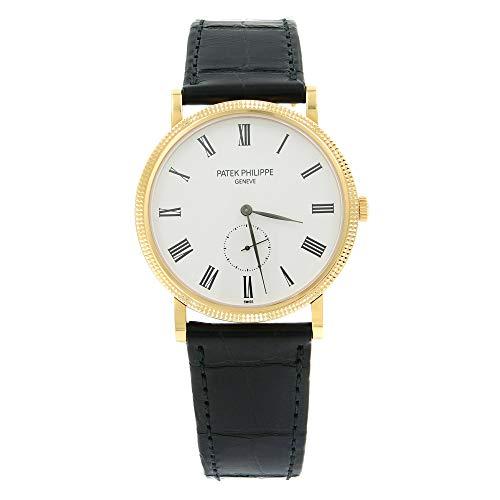 Patek Philippe Calatrava reloj blanco de 18 quilates para hombre blanco con viento manual 5119R-001