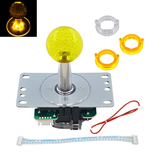 SJ@JX Arcade LED Joystick SANWA Style Fight Joystick LED Stick Retro LED Joy Circular Limiter Octagonal Limiter for Retro Pie Raspberry Pi MAME Jamma SANWA