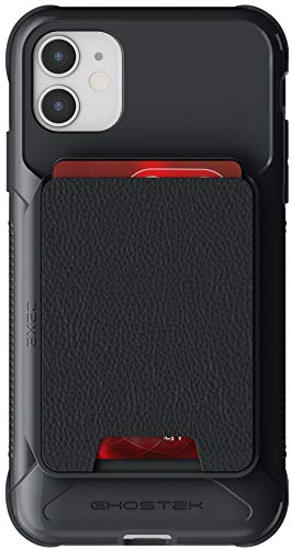 Ghostek Exec Magnetic Wallet iPhone 11 Case with Slide-Out Leather Card Holder Built-in Magnet is Perfect for Car Mounts and Easily Removable for Wireless Charging 2019 iPhone 11 (6.1 Inch) - (Black)
