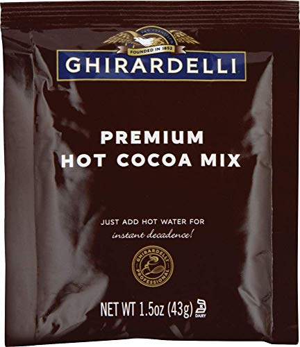 Ghirardelli Premium Hot Cocoa Envelopes, Rich chocolate, 22.7 Ounce (Pack of 15)
