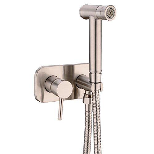 Great Features Of TRUSTMI Toilet Concealed Hot and Cold Bidet Spray Set,Brushed Nickel