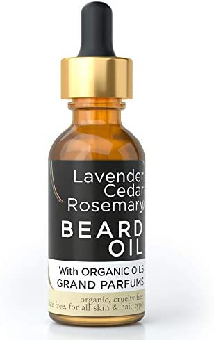 Grand Parfums MEN S Beard Oil 100 Organic Natural Conditioning Oil Infused w Lavender Cedarwood product image