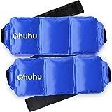 Gel-Kompresse Kalt Warm, Ohuhu 36x14cm Wiederverwendbar Universal Gel Gürtel Bei Schmerzen für Rücken Schulter Arm Nieren Bauch,2 Pack