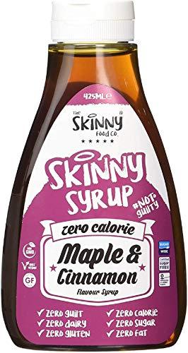 The Skinny Food Co - SIRUP - Kalorienfreier Sirup ohne Zucker, ohne Kalorien, ohne Schuldgefühle - Perfekt zu jeder Diät - 425ml (Maple & Cinnamon - Ahorn & Zimt)