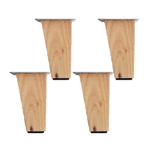 AT 4 Piezas de Madera Sólido Reemplazo de Muebles Pies Patas de la Mesa de Madera Patas de Los Muebles para Las Piernas Sofá Cama Silla Gabinete Couch Pies de Madera de Muebles, con el Tornil