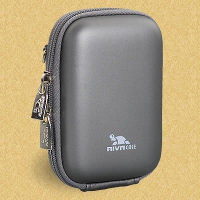 RivaHülle® 7022 (PU) Kameratasche (Hardcase - Hartschale) dunkelgrau