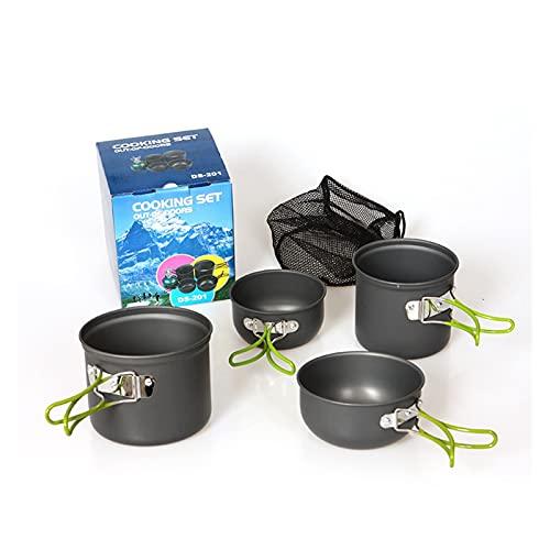 YINZHI Juego de cocción de vajillas de Camping al Aire Libre 2-3Person Picnic DS201 Herramientas de Utensilios de Cocina portátiles