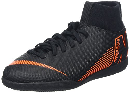 Nike Unisex-Kinder Mercurial Superfly X 6 Club IC JR AH7346 Fitnessschuhe, Mehrfarbig (Black/Total Orange-W 081), 36 EU