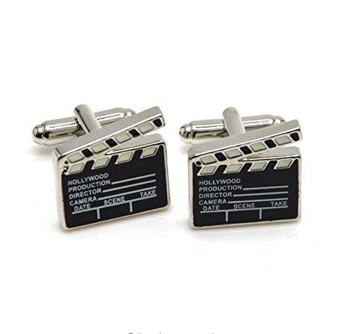 Covink® Film Clapper Board Manschettenknöpfe Weihnachtsgeschenk für Filmregisseur