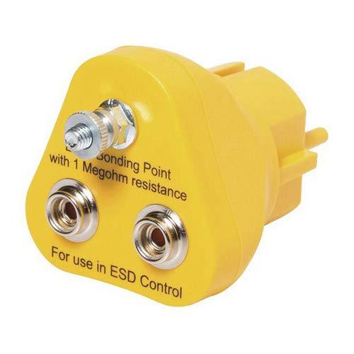 Safeguard EP1240-16 ESD Erdungsstecker, 2mm x 10mm Druckknopf, Gelb
