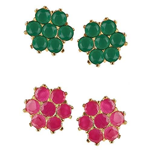 Orecchini tradizionali a perno in stile indiano Bollywood etnico americano con diamanti etnici per ragazze e donne, NON NOTO,