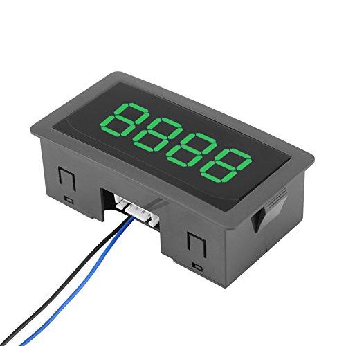 DC 24V 4-cijferige LED digitale teller 0-9999 op / neer plus / min paneelteller meter met kabel, 3 kleuren (groen)