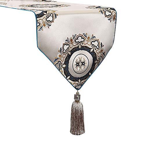 Xiao Jian tafelloper - Europese en Amerikaanse stijl tafel tafelvlag luxe high-end salontafel vlag TV kast stof decoratieve meubels lang tafelkleed (8 grootte) tafelkleed