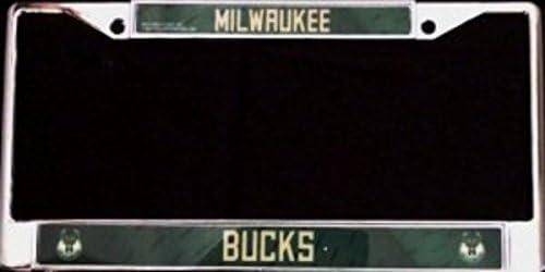 Rico Industries Milwaukee low-pricing Bucks Chrome Ranking TOP7 License Plate Frame