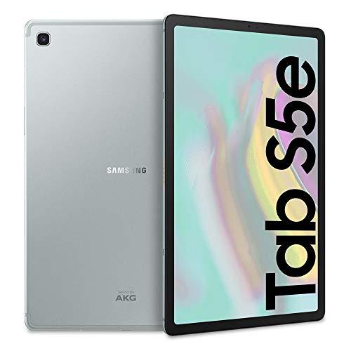 Samsung Galaxy Tab S5e (2019) Tablet, 10.5' SuperAMOLED, 64 GB Espandibili, Batteria 7040 mAh, Ricarica Rapida, Wi-Fi, Argento, [Versione Italiana]