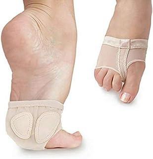 Wiji 1 Pair Foot Thongs Forefoot Dance Paws Cover Toe Undies Mesh Half Practice Shoes