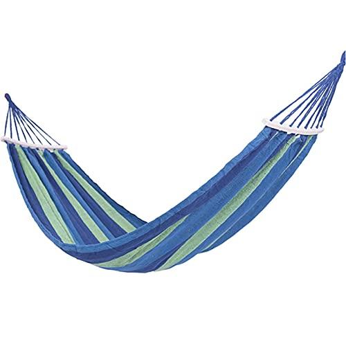 ZHZHUANG Tragbare Hängende Hängematte Indoor Home Schlafzimmer Hängematte Lazy Stuhl Reise Outdoor Camping Swing Chair Dicke Leinwand Bett Hängematten,Blau 02.