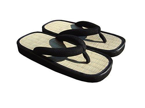 cinius Sandales japonaises Zori Tongs,Noir,37 EU