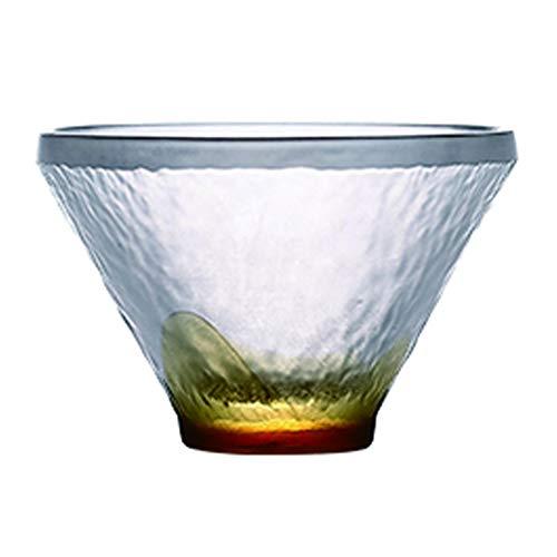 YIFEI2013-SHOP Vasos Cristal Mini Color Cristal Copa, Taza de té, Mate Textura, Vaso de Whisky, Agua/Bebidas Gafas, 1.3 Oz Vasos de Agua (Color : Orange)