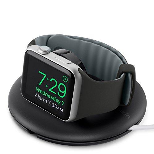 Belkin Reise Ladedock Travel Stand (geeignet für das 38 und 42 mm Modell der Apple Watch, mit Nachttisch Modus) schwarz