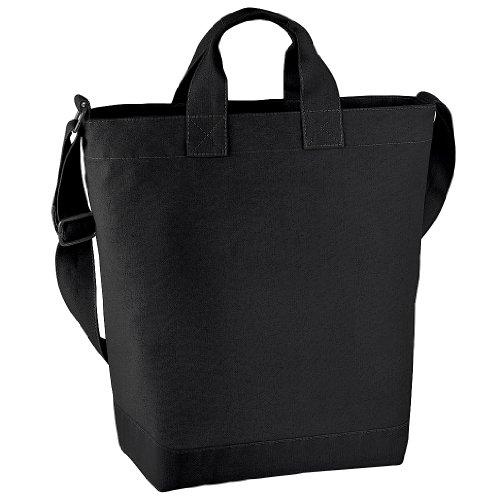BagBase Shopping-Tasche / Einkaufstasche mit Schulterriemen, 15 Liter Einheitsgröße,Schwarz