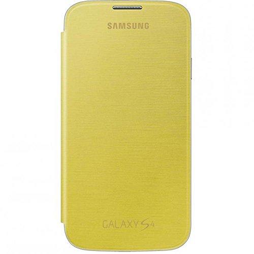 Samsung Flip - Funda para móvil Galaxy S4 (Con tapa, protección del terminal, sustituye a la tapa trasera), amarillo