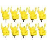 Cikonielf 10 pz pollame Acqua capezzoli valvola a Sfera Tipo Automatico di Pollo erogatori di Acqua alimentatori pollame Waterer bevitore per Gallina Uccello di quaglia
