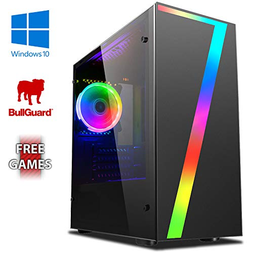 Vibox UK Family 1 Gaming PC Ordenador de sobremesa con 2 Juegos Gratis, Windows 10 OS (3,8GHz AMD A6 Dual-Core Procesador, Radeon R5 Gráficos Chip, 8GB DDR4 2400MHz RAM, 1TB HDD)